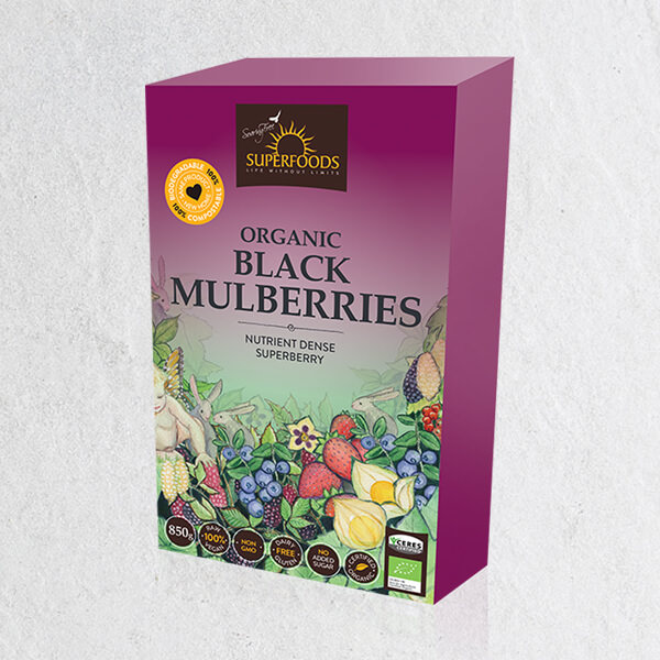 Black Mulberries, Organic Black Mulberries