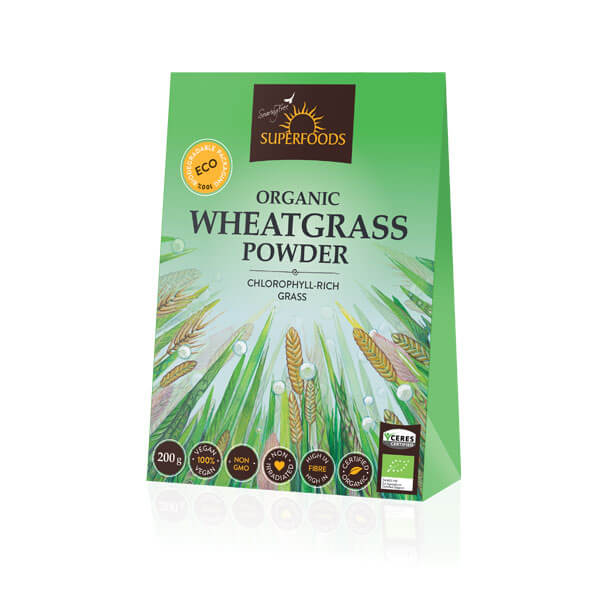 organic wheatgrass powder, Organic Wheatgrass Powder 200g