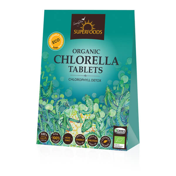 Spirulina Tablets, Organic Chlorella Tablets