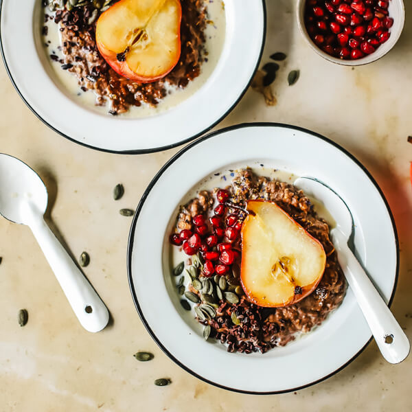 Chocolate Pear Oat Bowl