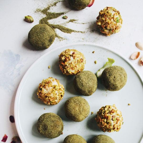 Moringa,Lime Infused White Chocolate Truffles