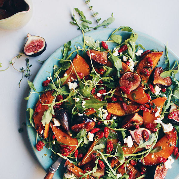 Roasted Butternut, Fig & Goji Berry Salad