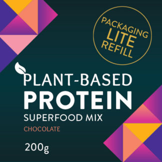 plant based protein superfood protein powder chocolate flavour