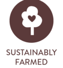 sustainably farmed icon by Soaring Free Superfoods