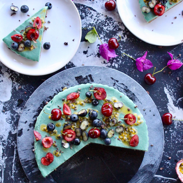 Tropical Spirulina Cheesecake