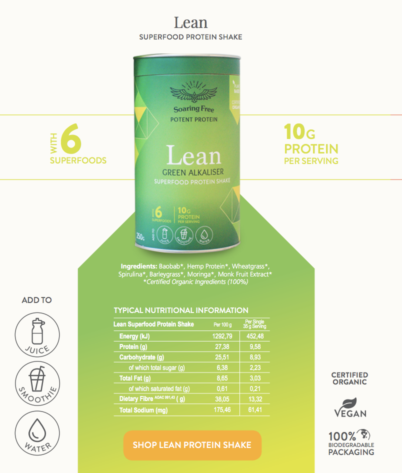 superfood-protein-shake-lean-nutritional-analysis